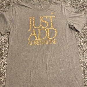 Nike Men's Just Add Adrenaline Gold T-Shirt Size M